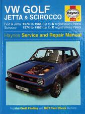 MK1 GOLF Haynes Manual, Mk1 Golf/Jetta 1.1/1.3, Petrol Models - 0001001010