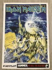 Iron Maiden Sticker Somewhere Back In Time World Tour 08 Metal Hammer