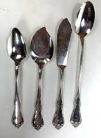 4 PC Mixed Lot ~ Affection by Oneida Community Silverplate Flatware Spoon Knife