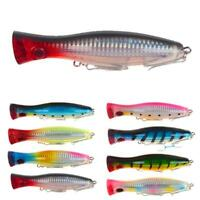 Big Mouth Popper Lure Top Water Fishing Lure 120mm/40g Game Trolling Bait S1Y3