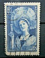 """FRANCIA 1938 """"SOGGETTI ARTE"""" FRANCOBOLLO TIMBRATO USED (CAT.A)"""