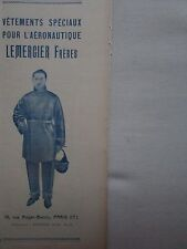 2/1927 PUB LEMERCIER VETEMENTS AERONAUTIQUE COMBINAISON CASQUE PILOTE AVION AD