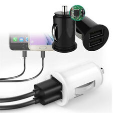 Mini Dual USB Car Charger Twin Port 12v Universal Lighter Socket Adapter Plug