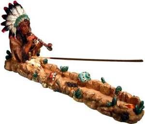 American Peace Pipe Smoking Chief Incense Stick & Cone Burner Ash-catcher #3085
