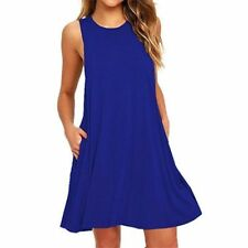 Summer Women's Sleeveless Tunic Top T Shirt Long Blouse Vest Dress Loose Beach