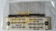 50 Allen Bradley Carbon Comp Resistors  100 OHMS  1/4 watt  5%      NOS