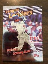 1999 Topps Sammy Sosa Chicago Cubs League RBI Leaders 225