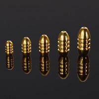 5X Lot Kugelform Gewicht: 1.8 / 3.5 / 5/7/10 G Kupfer Senkblei Fisch Fängt Tac G