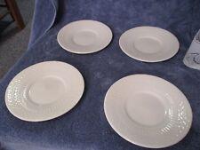 """American Atelier """"Apollo"""" 5420  White Bread Plate Set of 4 Basket Weave Design"""