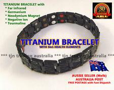 BEST Mens 5in1 Titanium Magnet Energy Arthritis Bracelet with 38 Power Elements!