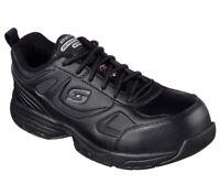 Shoes Black Skechers Slip Resistant Womens Work 77202 Memory Foam Safe Steel Toe
