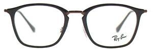Ray-Ban Damen Herren Brillenfassung RX7164 5882 52mm schwarz Vollrand BO2_10 B