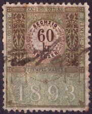 AUSTRIA - ÖSTERREICH - RARA STEMPEL MARKE DA 60 KREUZER - 1893