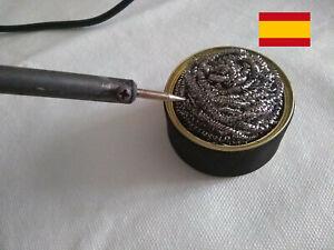 Limpiador para punta de Cautin/soldardor Iron Tip Cleaner  Wire Ball  With Stand
