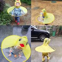 Cute Duck Children Raincoat Umbrella UFO Shape Rain Hat Cape Foldable US