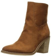 Rocket Dog Womens 10M Brown Dannis Coast Fabric Ankle Bootie