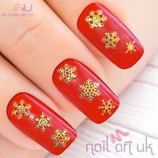 Gold Snowflake Nail Stickers, Art, Decals, xmas, christmas, winter 01.02.102