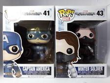 Set 2 Funko Pop Marvel Winter Soldier & Captain America (Not Mint)  [Protector]