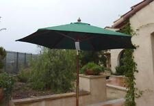 7ft Wooden Market Umbrella With Tilt Mechanism   Hunter Green