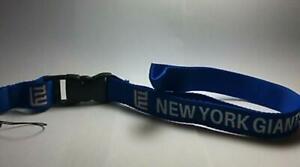 New York Giants Lanyard ID Badge Key Chain Clip Face Mask Holder Strap Saver New
