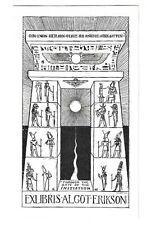 ALGOT ERIKSSON: Eigen-Exlibris, altägyptisches Tor