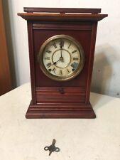 Rare Antique Seth Thomas Parlor Clock City Series? Drop Front Drawer Unusual