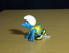 Smurfs Olympic Sprinter Smurf Track Runner Vintage Figure PVC Toy Figurine 20741