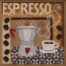 Espresso Cross Stitch Kit Mill Hill 2020 Buttons & Beads Autumn MH142024