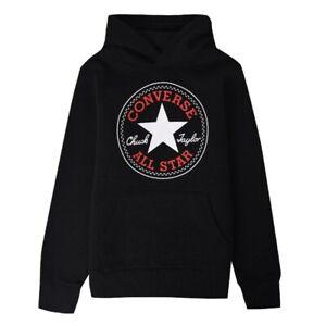 Kids Children's Designer Converse All Star Black Hooded Sweatshirt Hoodies UK