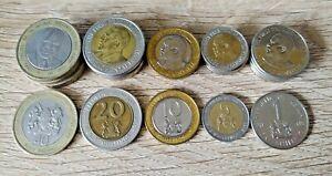 Kenya set of 5 coins 40+20+10+5+1 shilling Price for one set