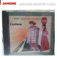 GENUINE JANOME MEMORY CARD U101 MEXICAN DESIGNS - Only MC9000, 5700, 5000