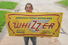 """Large Whizzer Motor Bike Motorcycle Authorized Dealer Gas Oil 48"""" Metal Sign"""