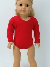 "18"" Doll Clothes Red Leotard Gymnastic Made To Fit 18"" American Girl Dolls"