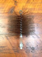 """Durable Steel Wire Round Chimney Cleaning Brush Attachment 8"""""""
