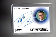 2015 JAMES BOND 007 ARCHIVES A271 Dolph Lundgren auto card.