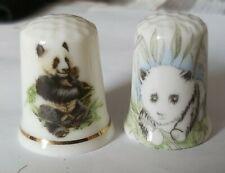 2 x Panda Collectable Thimbles