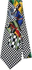 Formula 1 F1 Car Racing Transport Cartoon Novelty Fancy Neck Tie