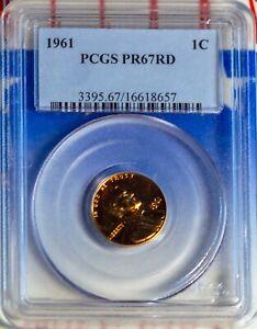 1961 1C Lincoln Memorial Small Cent PR 67 Red PCGS # 16618657 + Bonus