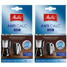 MELITTA Genuine Filter Coffee Machine Kettle Anti Calc Descaling Tablets 8 x 12g