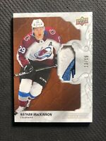 2019-20 UPPER DECK ENGRAINED NATHAN MACKINNON PREMIUM PATCH MAHOGANY #ed 13/15
