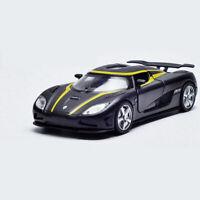 1:32 Koenigsegg Agera R Metall Modellauto Auto Spielzeug Model Schwarz Pull Back