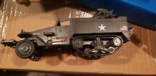 21st Century Toys Unimax 1/18 scale US Army Half Track with Quad Gun Mount