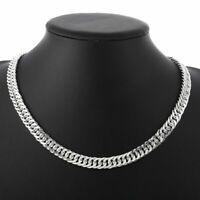 925 Sterling Silber Männer Halskette Herren Kette 10mm 50cm Silver Men Necklace.