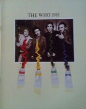 The Who - Face Dances Original Program 1981