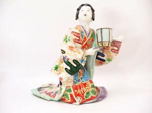 Edo Period 17th-18th Century Japanese Imari Bijin Geisha Figurine Statue