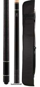 MCDERMOTT LUCKY L12 BLACK New Two-piece Billiard Pool Cue Stick & FREE SOFT CASE