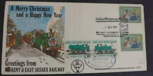 1979 Kent & East Sussex Railway Father Christmas Special Event Cover