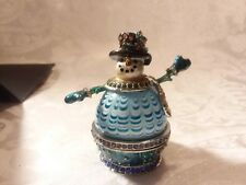 Fitz and Floyd Guild Collection, Enamel Trinket box, Snowman Box