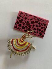 Ballet Dancer Charm Brooch Pin-Bj59135 Betsey Johnson Yellow/Red Enamel Skirt