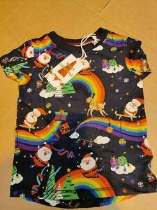 NEXT - Baby Christmas Rainbow Santa Top T-shirt - (kJ-5)